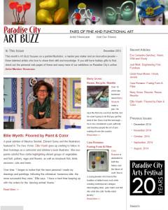 Paradise City Art Buzz Email Marketing Newsletter